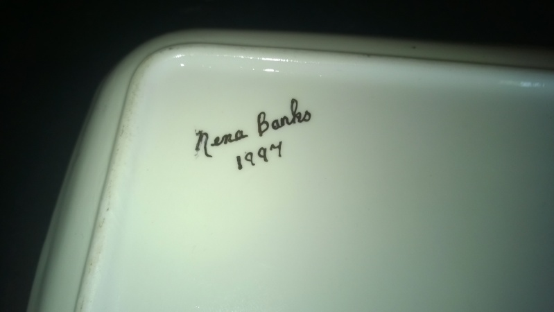 square tray/dish signed on back, please help identify maker. Wp_20113
