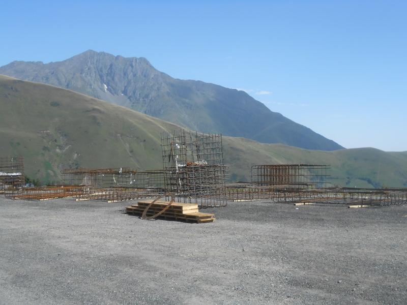 Construction du télésiège débrayable 6 places (TSD6) Bouleaux Dscn3121