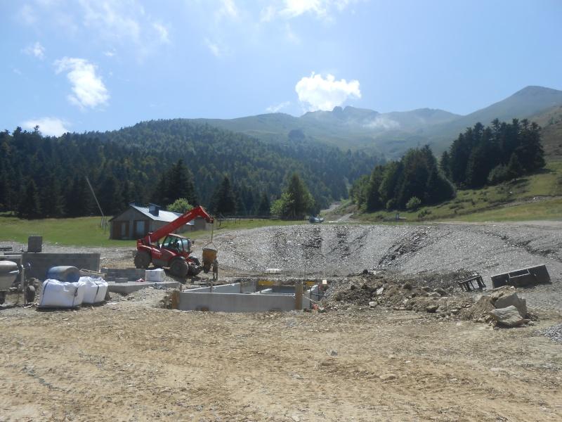 Construction du télésiège fixe 4 places (TSF4) Sapins Dscn3124