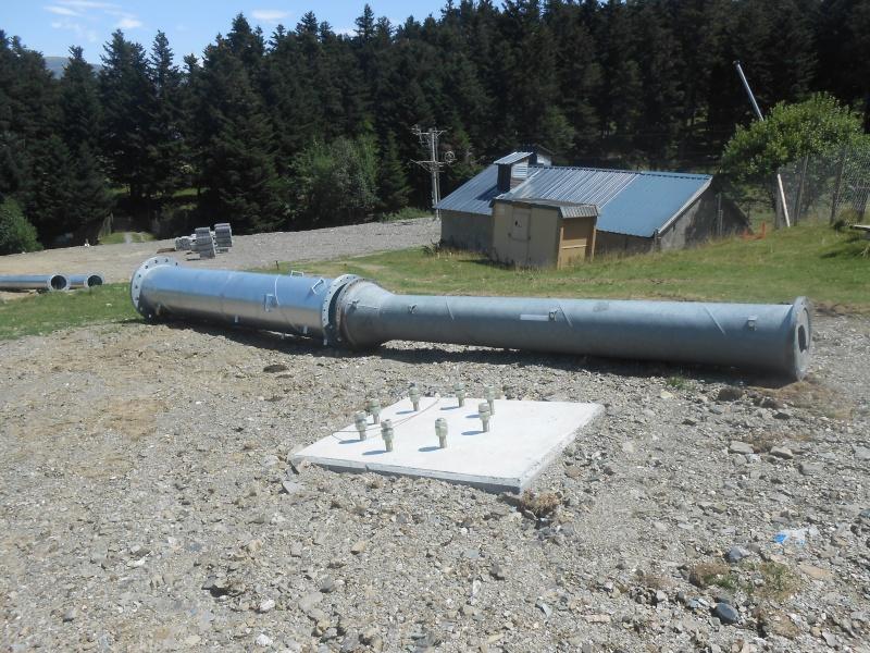Construction du télésiège fixe 4 places (TSF4) Sapins Dscn3127