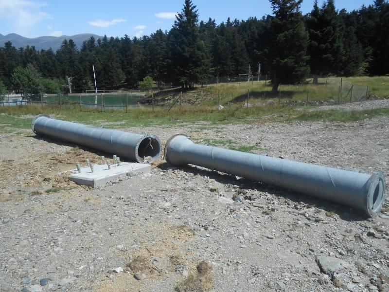Construction du télésiège fixe 4 places (TSF4) Sapins Dscn3128