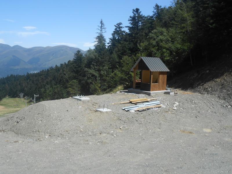 Construction du télésiège fixe 4 places (TSF4) Sapins Dscn3134