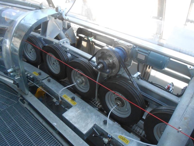 Calcul diamètres poulies/courroies lanceurs ralentisseurs RM Interr14