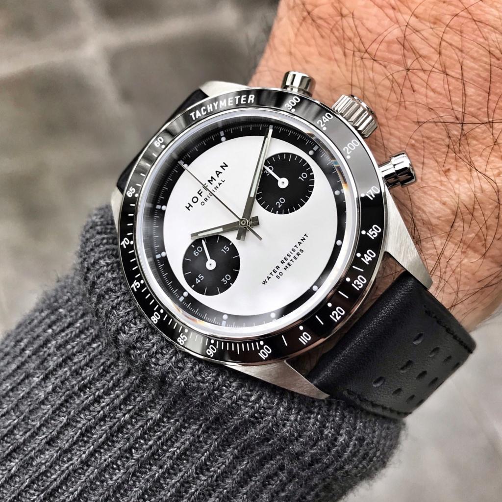Vends - [Baisse de prix - Vends] Chronographe mécanique HOFFMAN Racing 40 Panda Neuve 716f5410