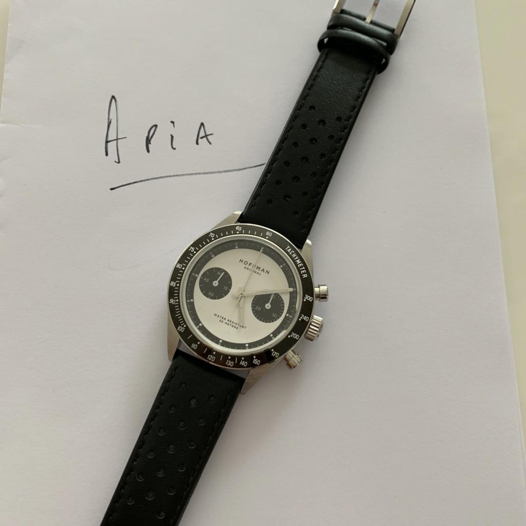 Vends - [Baisse de prix - Vends] Chronographe mécanique HOFFMAN Racing 40 Panda Neuve Img_0519