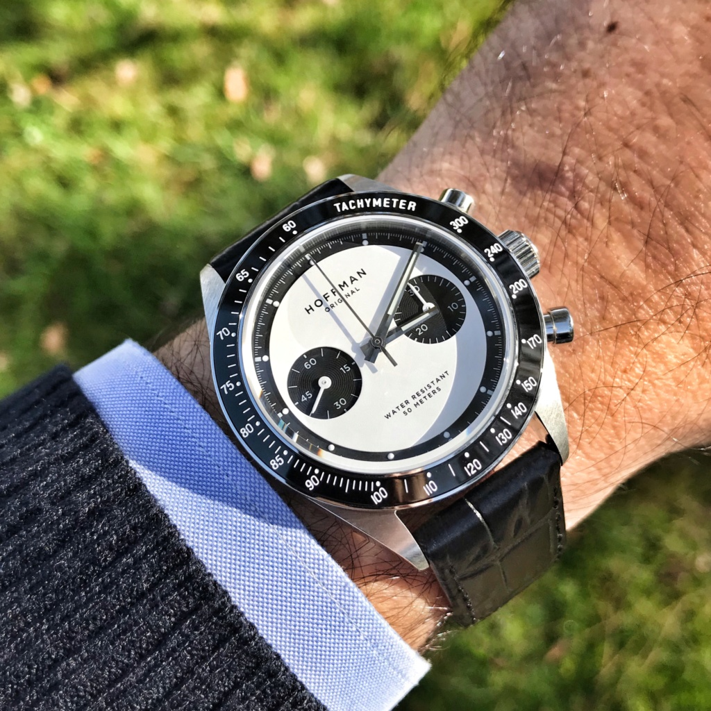 Vends - [Baisse de prix - Vends] Chronographe mécanique HOFFMAN Racing 40 Panda Neuve Img_3810