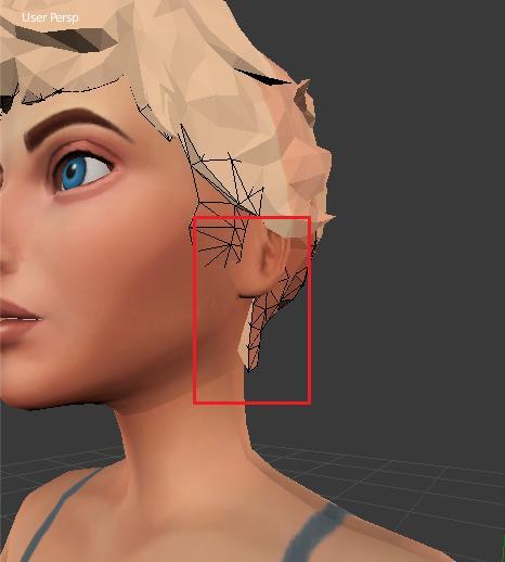 [Intermédiaire] [Blender 2.6 et 2.7] Conversion de coiffure Sims 4 d'un sexe à l'autre : la modification de mesh. Blende18