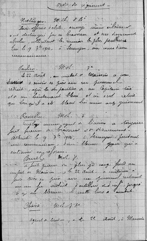 C'ETAIT IL Y A 100 ANS au jour le jour (ou à peu près) - Page 2 Ordre_10