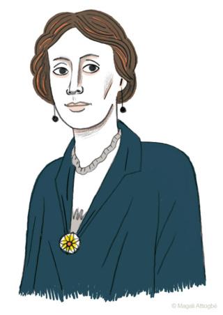 Le Rideau de Mrs Lugton de Virginia Woolf (illustré par Magali Attiogbé) Portra10