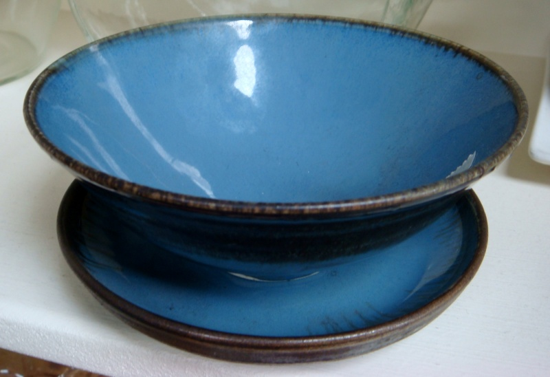 Renate von Petersdorff of Picton made this bowl and dish,  Dsc08015