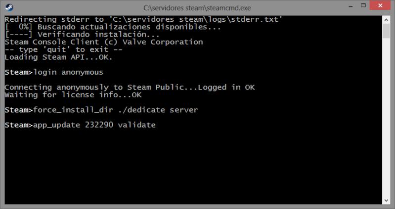 CREA TU PROPIO SERVIDOR  DE Day of Defeat Source o cualquier server de plataforma steam. Vali10