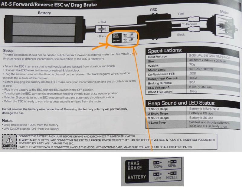 Découvrir les Variateurs ESC, étancher et optimiser le refroidissement de votre variateur d'origine et programmer son vario AE-2 et AE-5 pour SCX10 et tout scale Trial Ae5-pr10