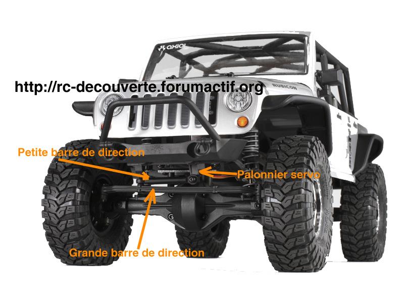 Optimiser et améliorer l'angle de braquage ou direction de SCX10 d'origine Direct10
