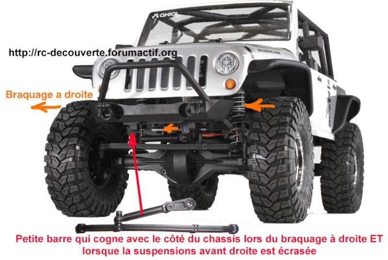 Optimiser et améliorer l'angle de braquage ou direction de SCX10 d'origine Direct11