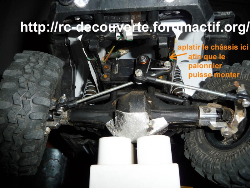 Optimiser et améliorer l'angle de braquage ou direction de SCX10 d'origine Direct15