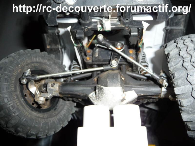 Optimiser et améliorer l'angle de braquage ou direction de SCX10 d'origine Direct16
