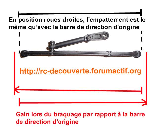 Optimiser et améliorer l'angle de braquage ou direction de SCX10 d'origine Explic11