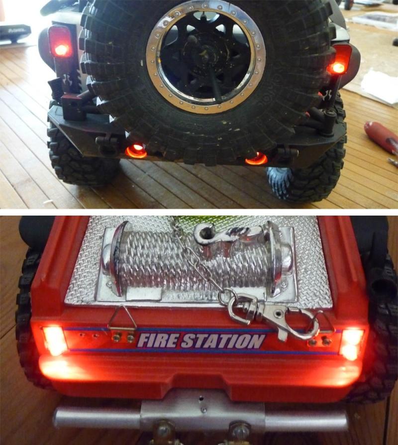 Fabriquer éclairage Led pour Scx10 et Scale Trial : feux avant, feux arrière, spot de toit, clignotants, gyrophares et feux de recul Pas Cher Feux-a10