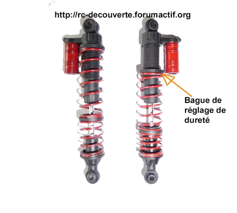 Suspensions de SCX10 et Scale Trial : mettre de l'huile ou pas, réglages de rigidité ou dureté et inclinaison des suspensions Suspen10