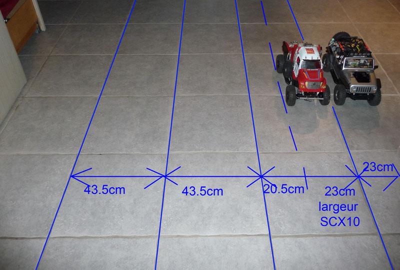 Optimiser et améliorer l'angle de braquage ou direction de SCX10 d'origine Test-m11
