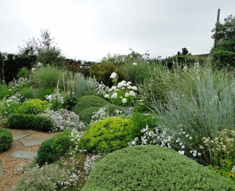 massifs en blanc - fleurs et feuillages : belles associations  Plouyc15