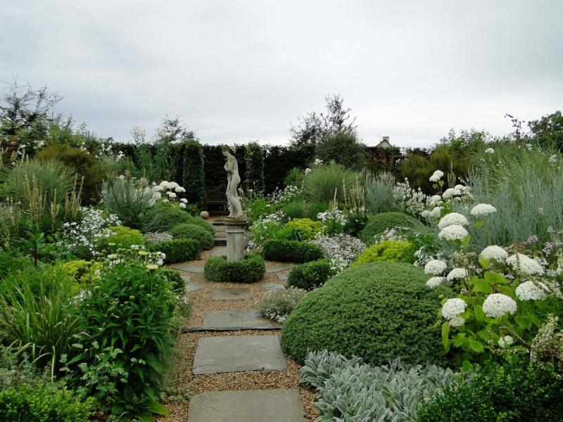massifs en blanc - fleurs et feuillages : belles associations  Plouyc21