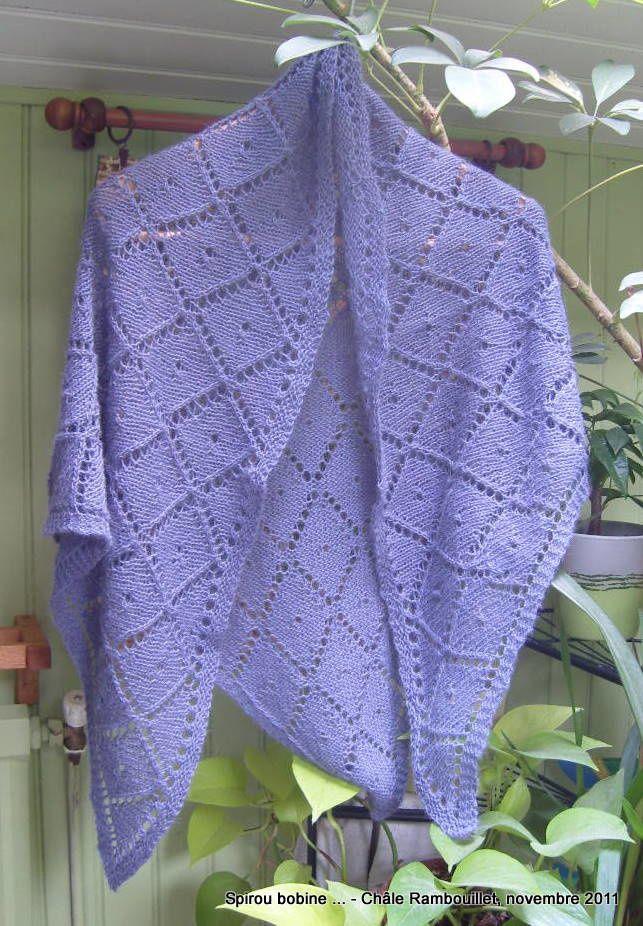 Châle Rambouillet bleu Chale-10