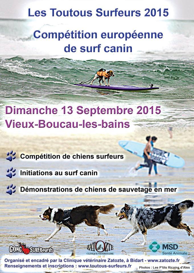 """Journée """"LE CHIEN ET L'OCEAN"""", les toutous surfeurs - 28/09/2014 10985510"""