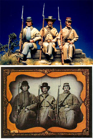 "3è Rgt de Volontaires de Georgie - Richmond Hiver 1861-1862  """"TERMINE"""" Best3r10"