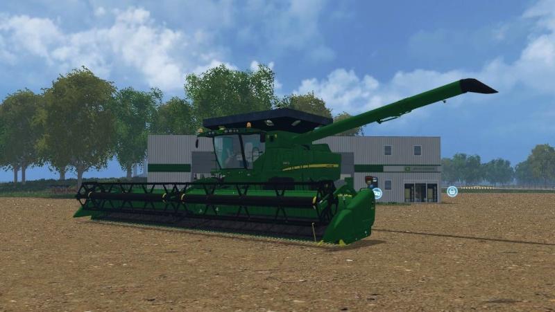 John Deere S690 W/640FD and Extended Grain Bin Farmin10