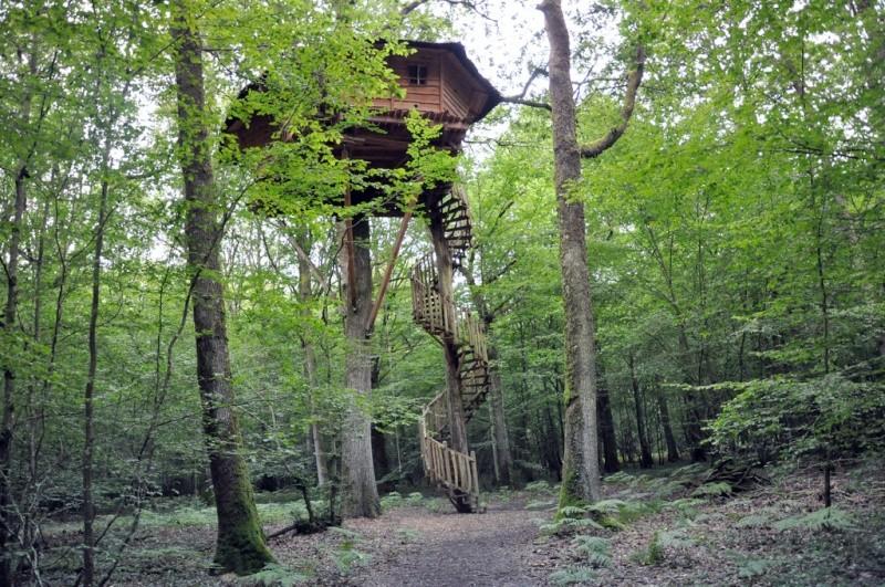 De toile, de bois ou de bric et de broc : les cabanes. 77204610