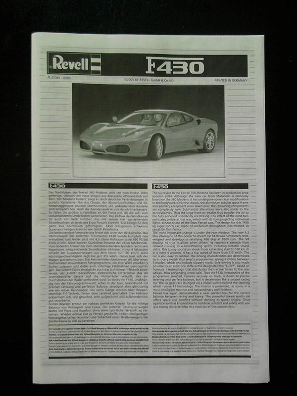 Revell Ferrari F-430 1:24 02_11