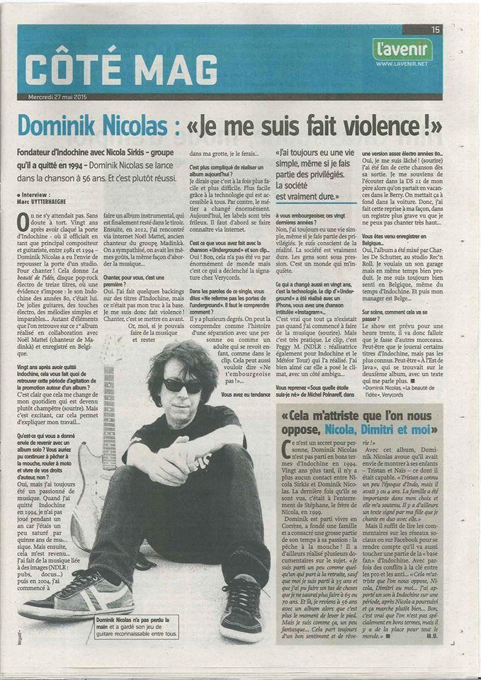 """L'avenir.net : Dominik Nicolas """"Je me suis fait violence"""" L_aven10"""