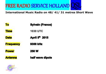 eQSL de FRS Holland Frsh_q11