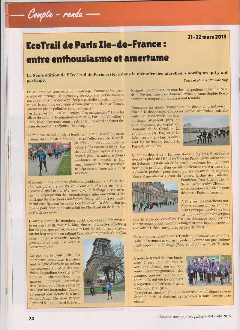 Compte rendu  articles de presse    Magazine de marche nordique Articl10
