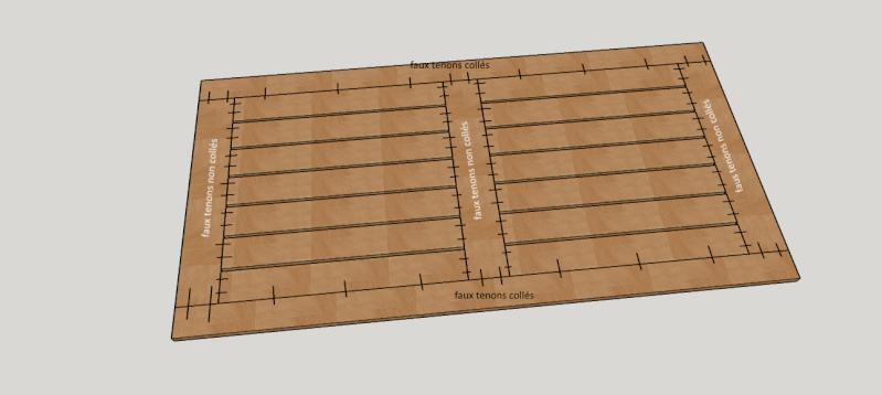 Réalisation d'une table de jardin - Page 2 Platea11