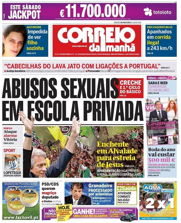 CORREIO DA MANHÃ 01.08.2015 Cm0110