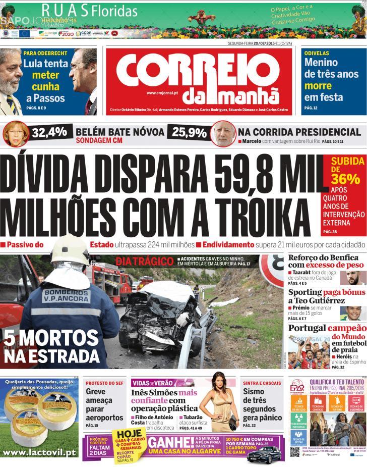 CORREIO DA MANHÃ 20.07.2015 Cm2010