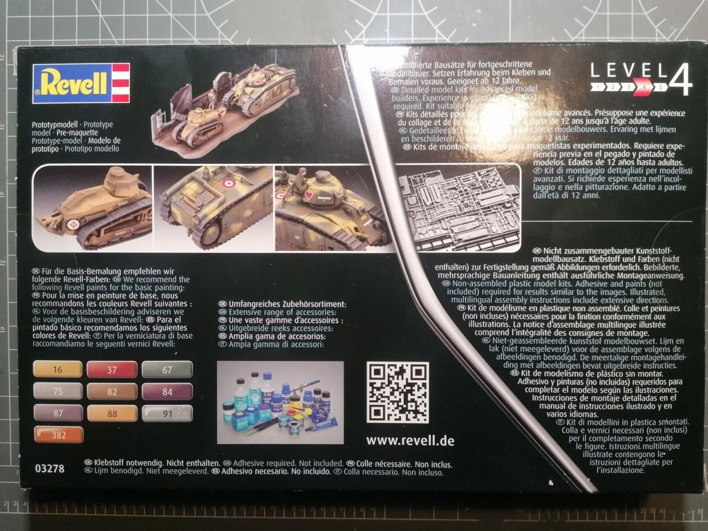 [REVELL] Char B1.Bis et RENAULT FT-17 1/76ème Réf 03278 Img_2041