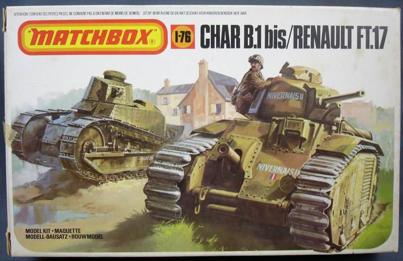 [REVELL] Char B1.Bis et RENAULT FT-17 1/76ème Réf 03278 Matchb10