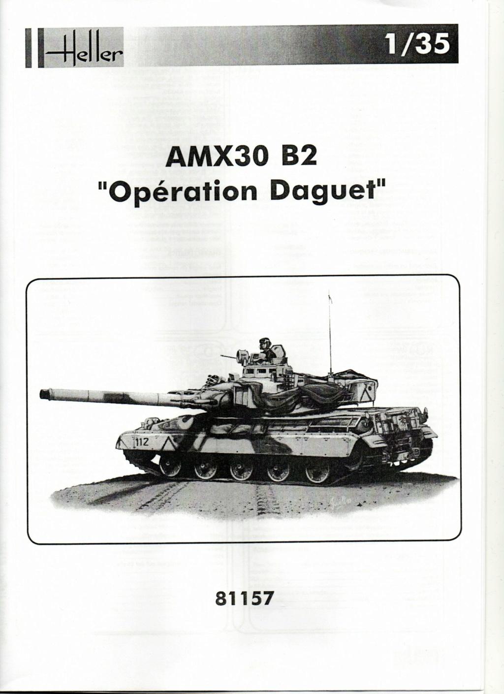 "[HELLER] AMX 30 B2 ""Opération DAGUET"" (UPGRADE) 1/35ème Réf 81157 Notice20"