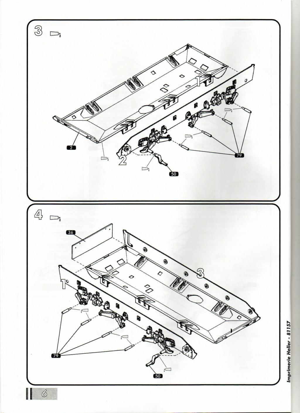 "[HELLER] AMX 30 B2 ""Opération DAGUET"" (UPGRADE) 1/35ème Réf 81157 Notice22"