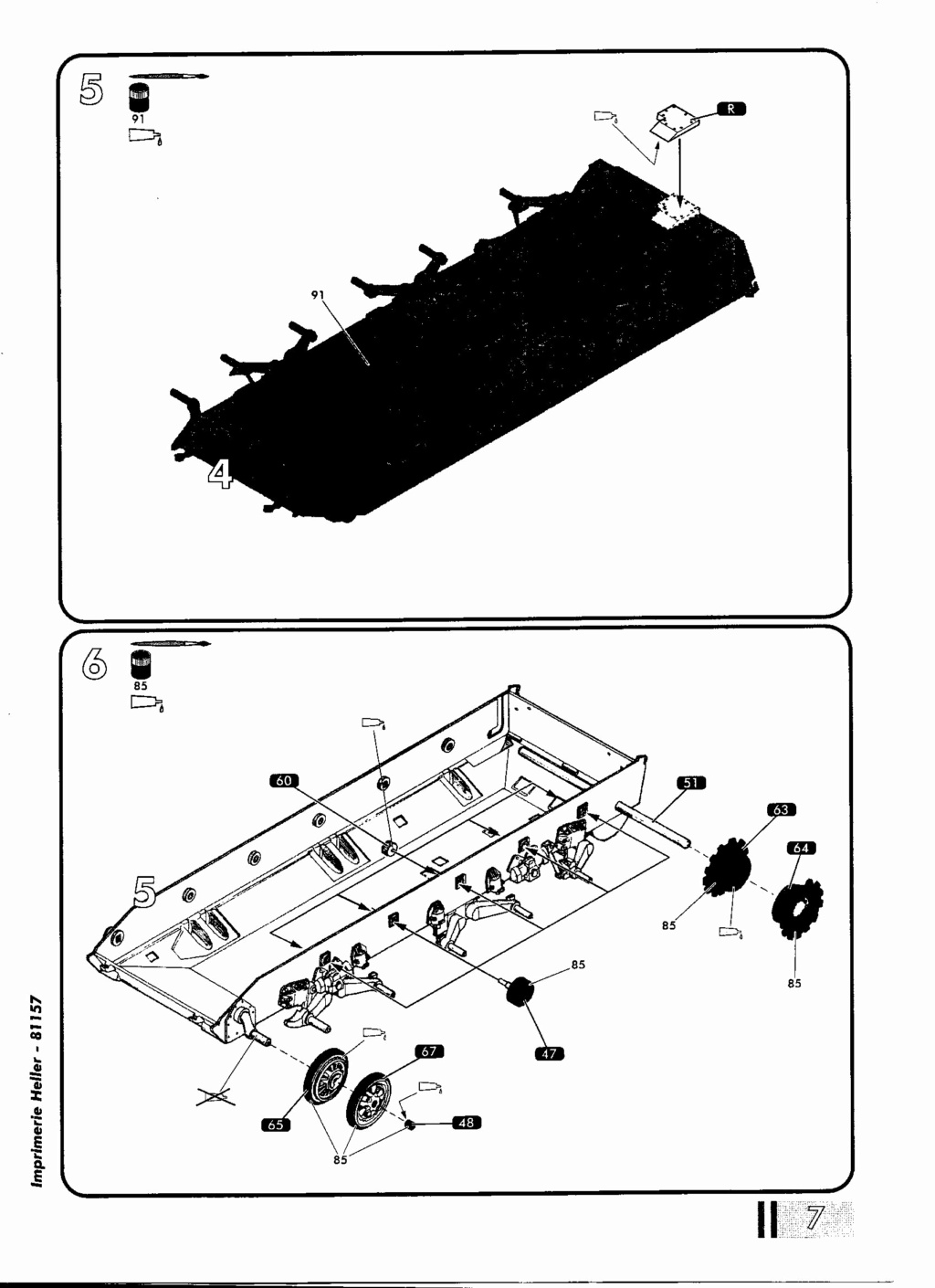 "[HELLER] AMX 30 B2 ""Opération DAGUET"" (UPGRADE) 1/35ème Réf 81157 Notice23"