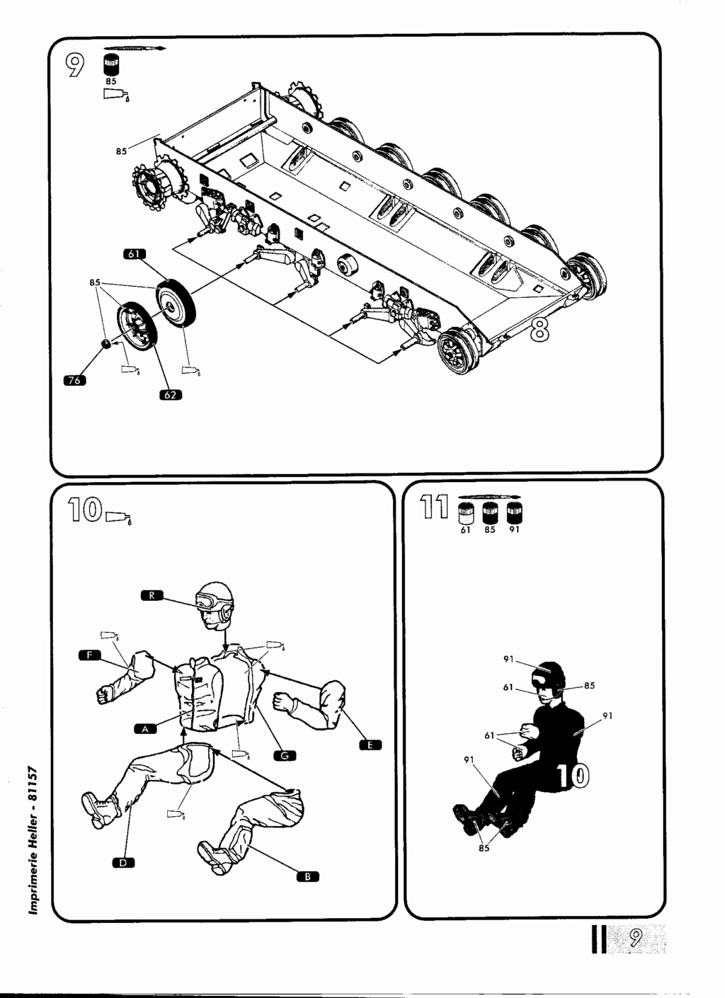 "[HELLER] AMX 30 B2 ""Opération DAGUET"" (UPGRADE) 1/35ème Réf 81157 Notice25"