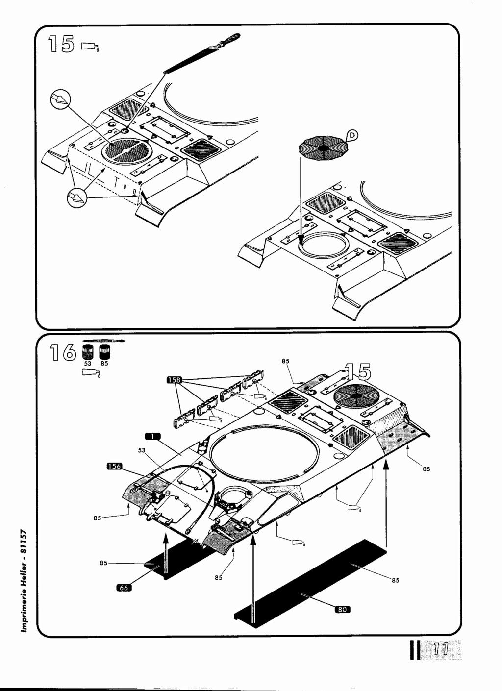 "[HELLER] AMX 30 B2 ""Opération DAGUET"" (UPGRADE) 1/35ème Réf 81157 Notice27"
