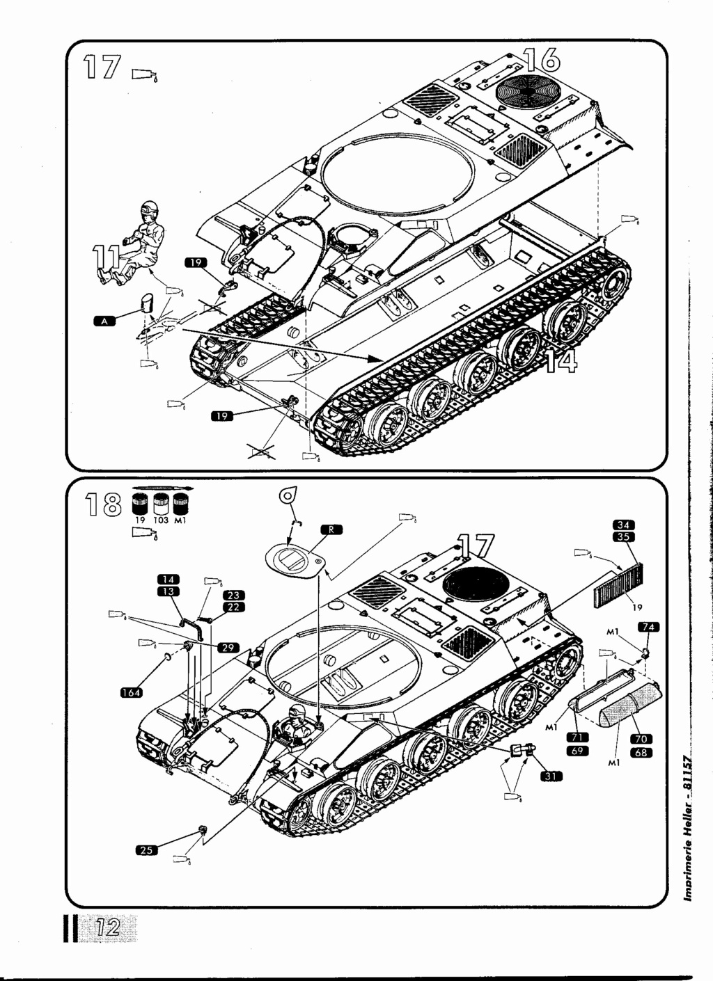 "[HELLER] AMX 30 B2 ""Opération DAGUET"" (UPGRADE) 1/35ème Réf 81157 Notice28"