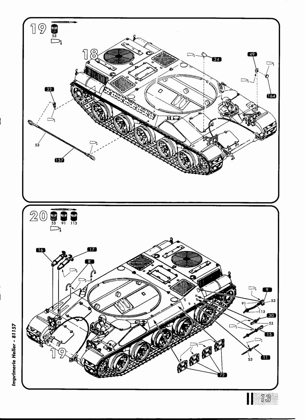 "[HELLER] AMX 30 B2 ""Opération DAGUET"" (UPGRADE) 1/35ème Réf 81157 Notice29"