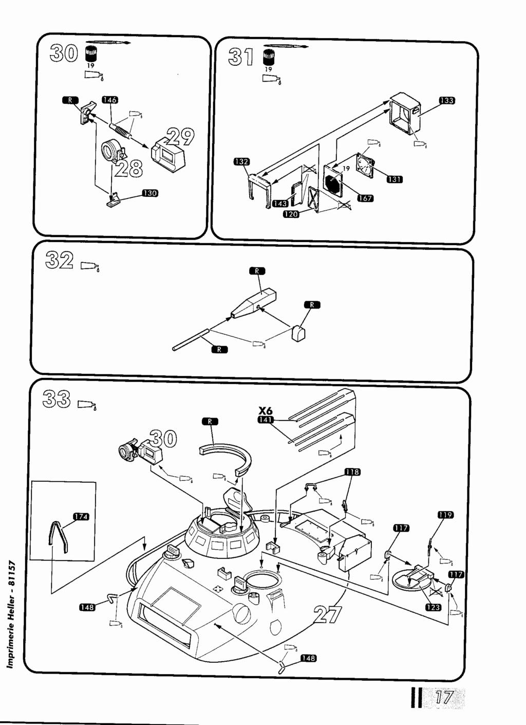"[HELLER] AMX 30 B2 ""Opération DAGUET"" (UPGRADE) 1/35ème Réf 81157 Notice34"