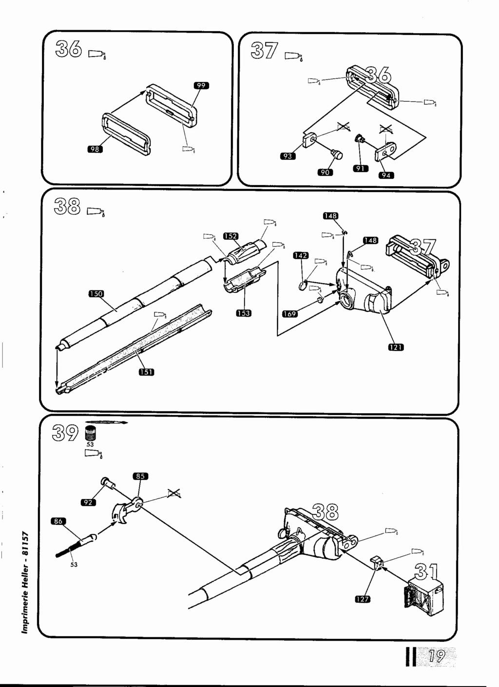 "[HELLER] AMX 30 B2 ""Opération DAGUET"" (UPGRADE) 1/35ème Réf 81157 Notice36"