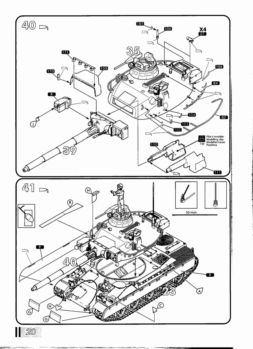 "[HELLER] AMX 30 B2 ""Opération DAGUET"" (UPGRADE) 1/35ème Réf 81157 Notice37"